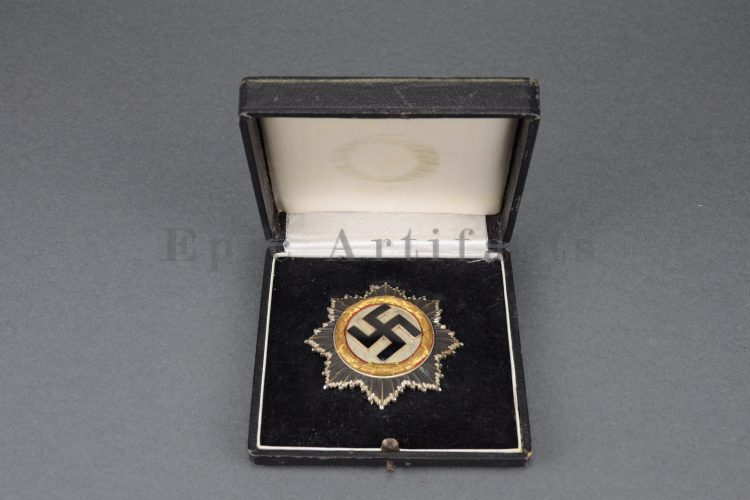 Cased German Cross in Gold by Godet