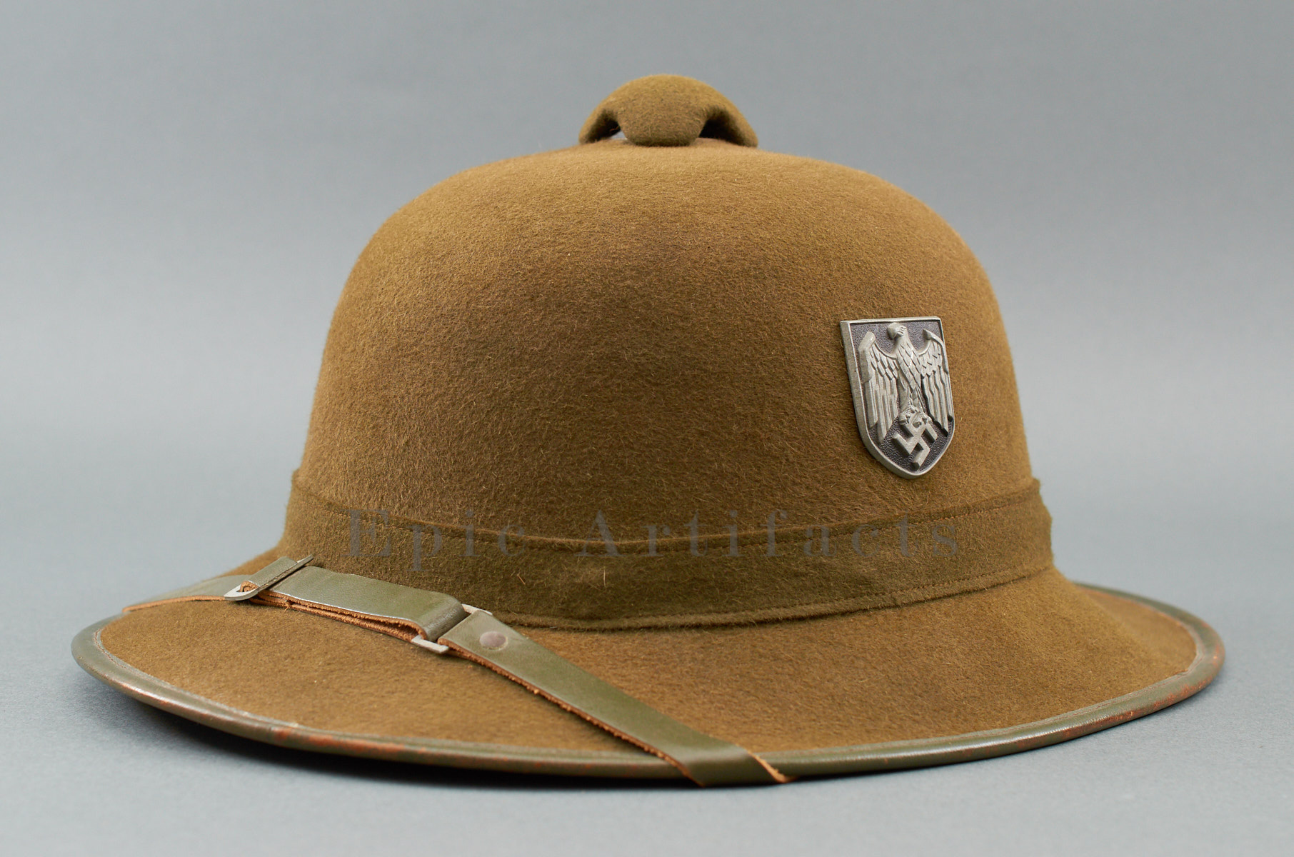 e16e6cb51ee2f Army (Heer) DAK Tropical Pith Helmet – 2nd Pattern - Epic Artifacts