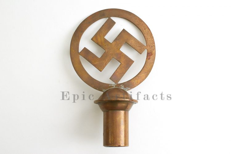 Very Early German Swastika Flag Pole Top - Epic Artifacts