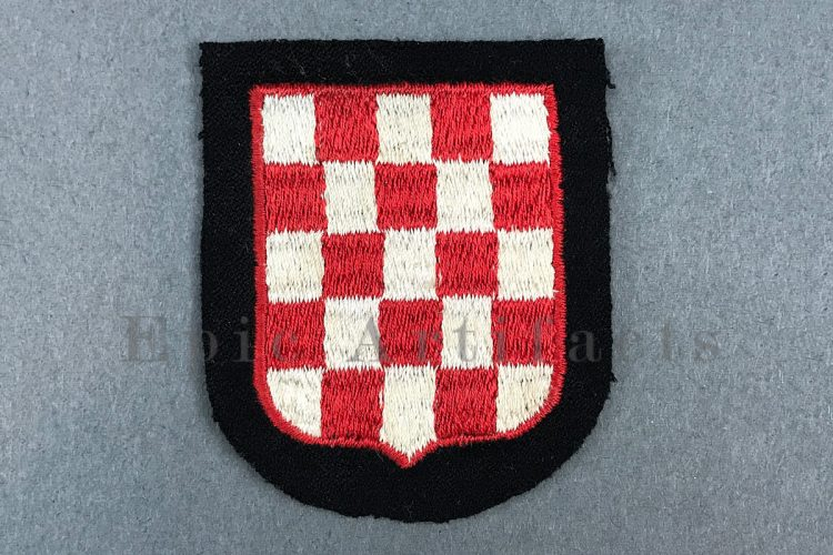 Waffen-SS Croatian Volunteer Sleeve Shield