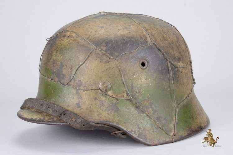 Normandy Camo Chicken Wire Helmet