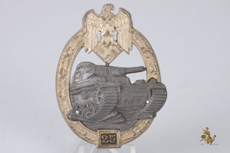 25 Engagement Panzer Assault Badge