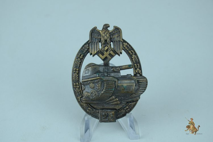 25 Engagement Panzer Assault Badge in Bronze