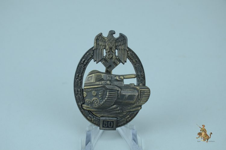 50 Engagement Panzer Assault Badge in Bronze