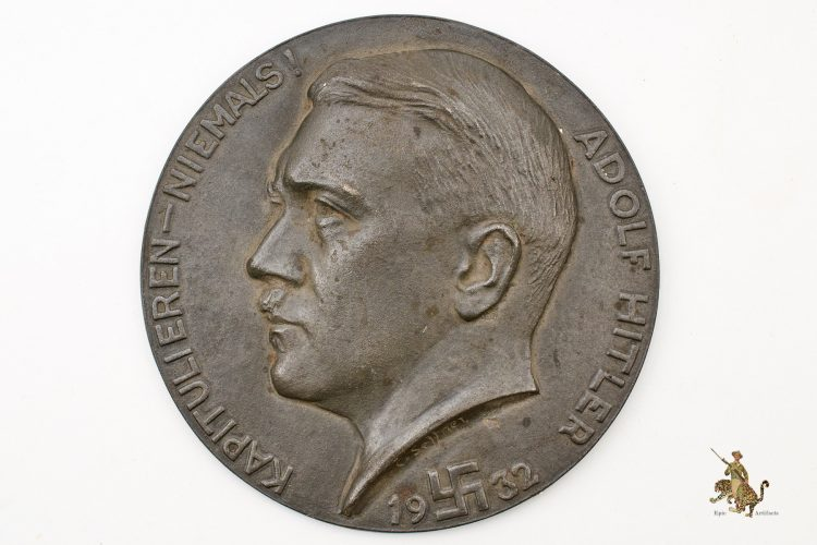 1932 Hitler Wall Plaque
